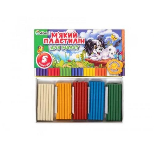 Пластилін Кроха з воском 5 кольорів Міцар