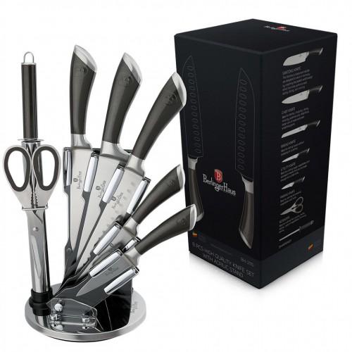 ВН-2110  Carbon Metalic Набір ножів на підставці 8 пр.