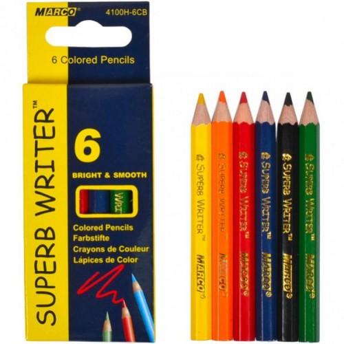 Олівці  6 кольорів 4100H–6CB MINI MARCO