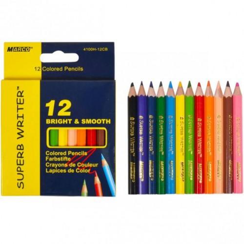 Олівці  12 кольорів 4100H–12 CB  mini MARCO