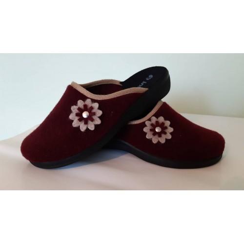 Тапочки жіночі фетр квітка Inblu Бордові