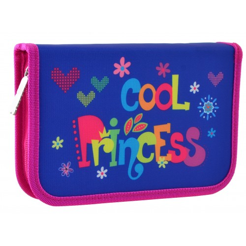 """Пенал твердий одинарний з двома клапанами HP-04 """"Cool Princess"""" 532012"""