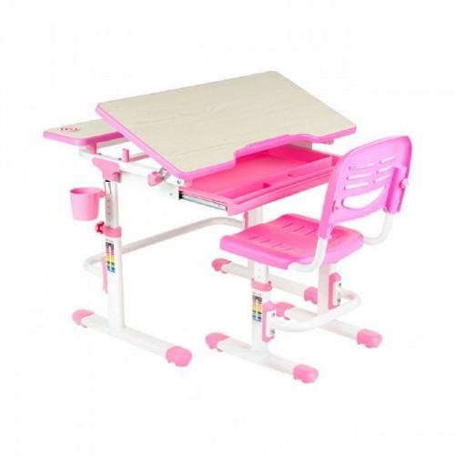 Зростаюча парта + стільчик для школяра Fundesk Lavoro Pink