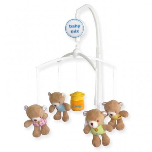 Каруселька з плюшевими іграшками BabyMix ТК  788м (ведмедики з медом)