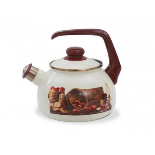 Чайник ем. зі свистком 2,5 л 2475 Яблука ТМ METROT