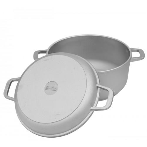Каструля алюмінієва Біол К202 2,0 л з потовщеним дном та кришкою-сковорідкою