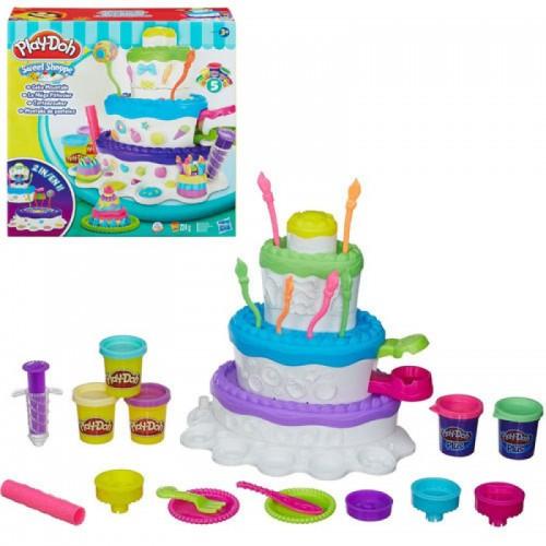 """Набір пластиліну """"Святковий торт"""" Play-Doh (A7401)"""