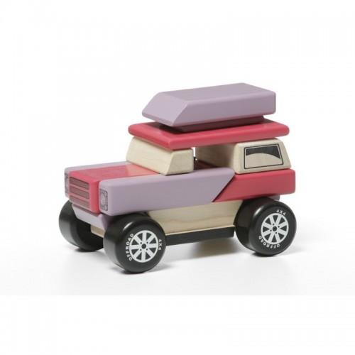 Іграшка дерев'яна Машинка-конструктор з магнітами LM-1/12046