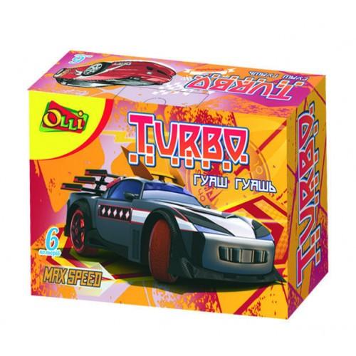"""Гуаш """"Turbo"""" OLLI, 6 кольорів по 10 мл, OL-223-6, 325 215"""