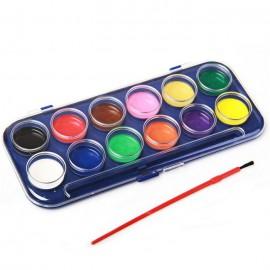 Краски, кисточки, палитра, стаканчики