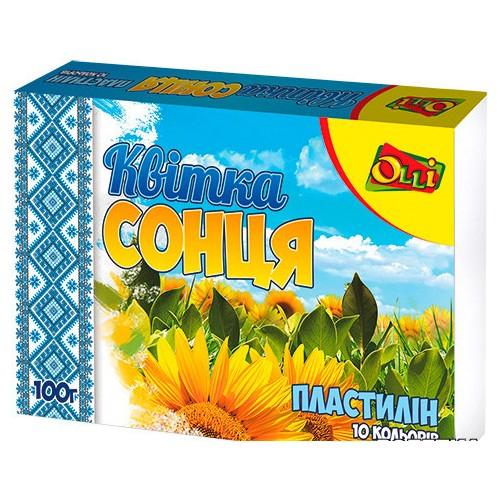 """Пластилін Olli """"Квітка сонця"""" 10 кольорів 100 г Ol-018-10"""
