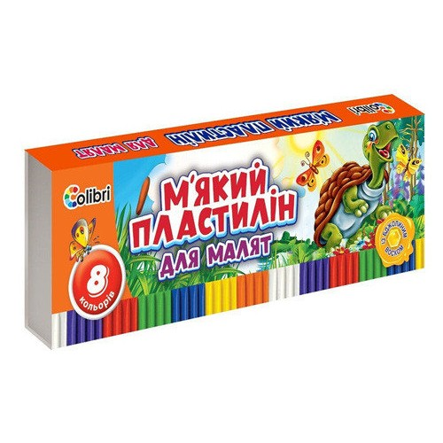 Пластилін Кроха з воском 8 кольорів Міцар