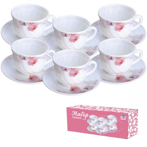 Набір чайний 12 пр. 30055 Рожева орхідея 61099