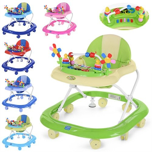 Дитячі ходунки музичні з підсвічуванням і ігровою панеллю BAMBI M 3619