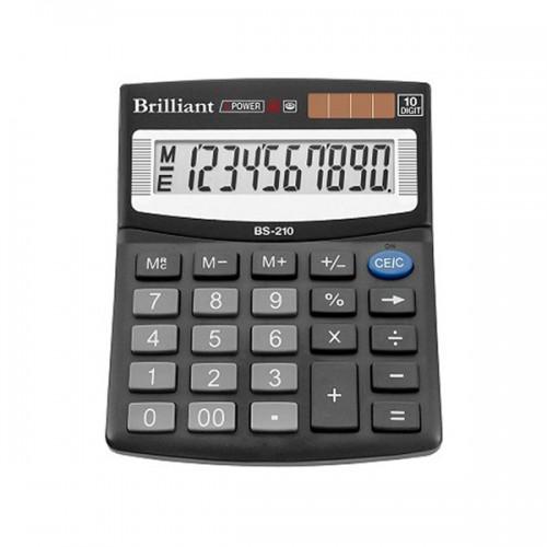 Калькулятор електронний Brilliant 10-розрядний BS-210