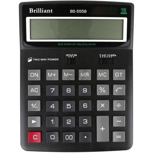 Калькулятор електронний Brilliant 12-розрядний BS-555