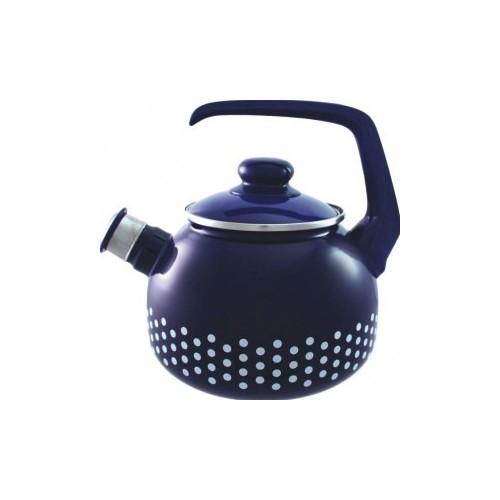 Чайник ем. зі свистком 2,5 л  2086с в горох синій ТМ  METROT