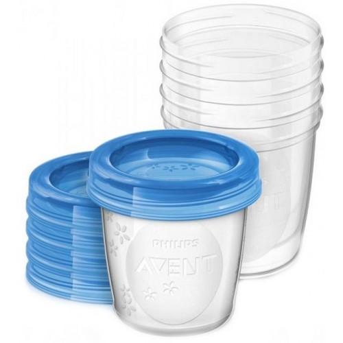 Philips Avent SCF 619/05 Набір контейнерів для зберігання грудного молока / продуктів 180 ml (5 шт.)
