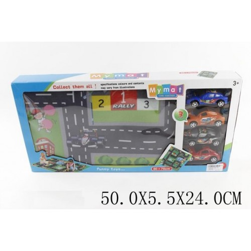 Ігровий килимок Rally 528-9А (4 машинки)