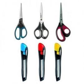 Ножиці, канцелярські ножі, леза
