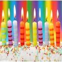Святкові свічки в торт